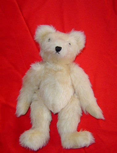 Cream Coloured Faux Fur Bear
