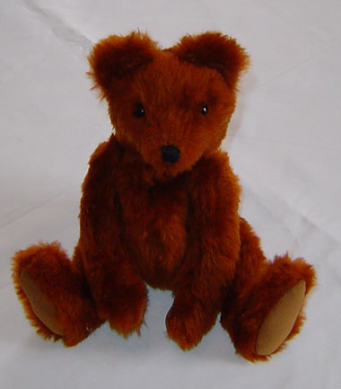 Reddish Brown Faux Fur Bear
