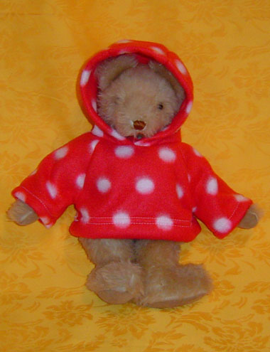 Red Polka Dotted Hoodie