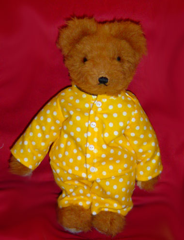Yellow White Polka Dotted Jammies